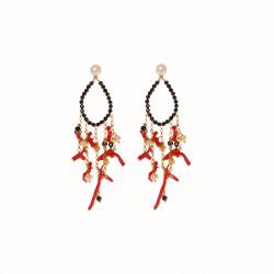rajola-orecchini-furore-spinello-corallo-perle bianche-argento