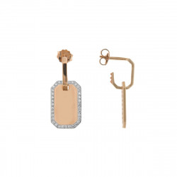 rue-des-mille-mono-orecchino-medaglietta-argento-rose-liscia-contorno-zirconi-bianchi