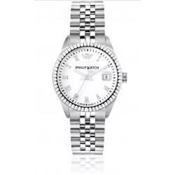 Philip-Watch-Orologio-da-donna-Caribe-al-quarzo-cassa-e-bracciale-in-acciaio-quadrante-bianco-r8253597515