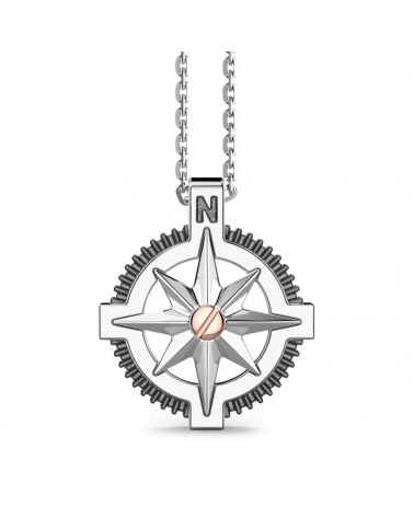 zancan-collana-argento-rosa-dei-venti-vite-oro-rosa