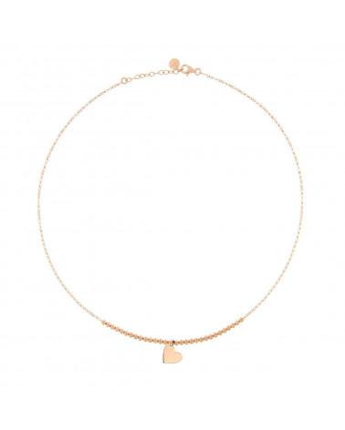 rue-des-mille-girocollo-argento-rosato-micro-pallini-micro-pendente-cuore