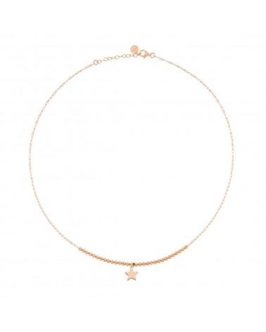 rue-des-mille-girocollo-argento-rosato-micro-pallini-micro-pendente-stella