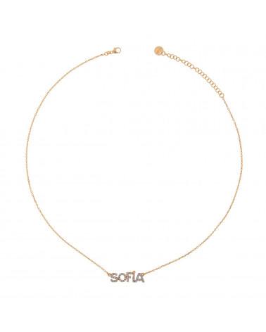 rue-des-mille-girocollo-argento-rosato-nome-personalizzabile-zirconi-bianchi
