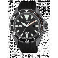 Citizen-Eco-Drive-Marine-Orologio-uomo-quadrante-nero-cinturino-poliuretano-nero-bm7455-11e