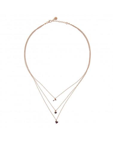 rue-des-mille-girocollo-argento-rosato-3-fili-bocca-cuore-freccia-zirconi