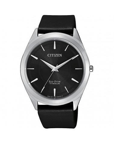 citizen-orologio-uomo-super-titanio-slim-eco-drive-cinturino-pelle-nero-bj652015e