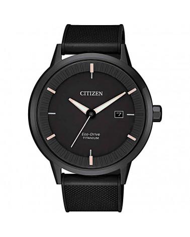citizen-orologio-uomo-super-titanio-eco-drive-cinturino-silicone-nero-bm742511h