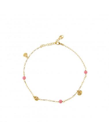 rue-des-mille-cavigliera-argento-dorato-maglia-marina-conchiglie-sfere-rosa-aecavr