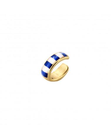 rue-des-mille-earcuff-argento-dorato-righe-smaltate-bianco-blu-aeearb