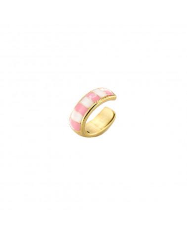 rue-des-mille-earcuff-argento-dorato-righe-smaltate-bianco-rosa-aeearr