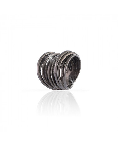 unoaerre-anello-vortie-argento-brunito-fascia-fili-intrecciati-700yaf197rn