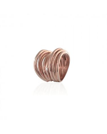 unoaerre-anello-vortie-argento-rosato-fascia-fili-intrecciati-700yaf197r