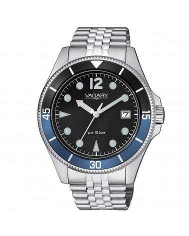 vagary-orologio-uomo-aqua-39-cassa-e-bracciale-acciaio-movimento-al-quarzo-quadrante-nero-ghiera-bicolore-blu-nero-vd501591