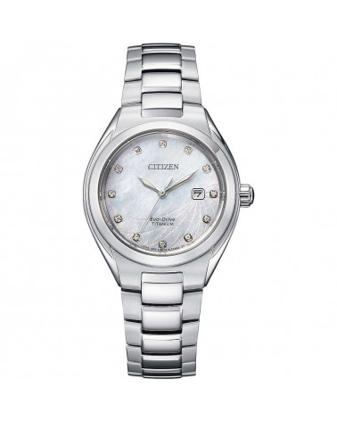 Citizen-Orologio-donna-Eco-Drive-Lady-cassa-bracciale-Supertitanio-quadrante-madreperla-con-diamanti-ew261187d