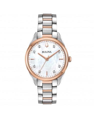 Bulova-Orologio-donna-Sutton-Lady-Diamonds-cassa-e-bracciale-acciaio-bicolore-quadrante-madreperla-diamanti-98p183