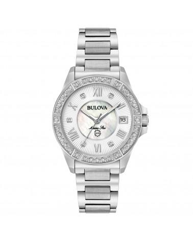 Bulova-Orologio-donna-marine-star-Lady-cassa-e-bracciale-acciaio-quadrante-silver-diamanti-su-cassa-e-quadrante-96r228