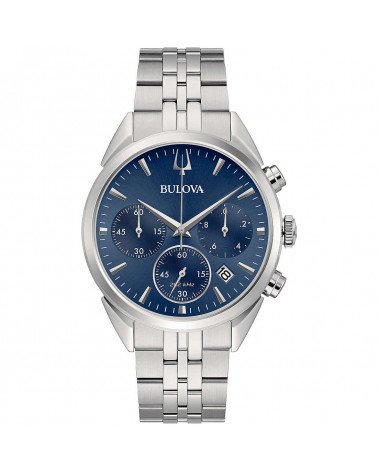 Bulova-Orologio-uomo-high-precision-cronografo-cassa-bracciale-acciaio-quadrante-blu-96b373
