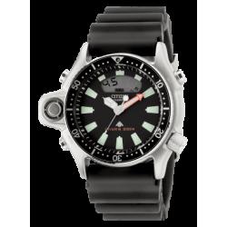 Citizen-Promaster-Aqualand-Movimento-quarzo-sensore dati-immersione-subacquea-quadrante-nero-cinturino-nero-jp2000-08e