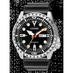 Citizen-Meccanico-Automatico-Orologio-uomo-quadrante-nero-cinturino-poliuretano-nero-nh8380-15e